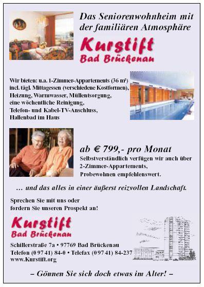 Kurstift Bad Brückenau - Die Seniorenwohnanlage mit der familiären Atmosphäre