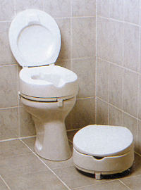 Toilettensitzerhöhung für 10cm Erhöhung mit Deckel
