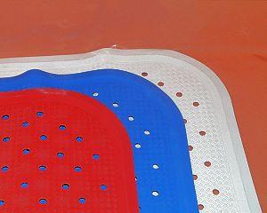 Badewannenmatte blau 96 x 34cm TÜV geprüft