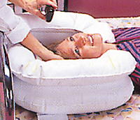 Kopfwaschbecken, Haarwaschbecken aufblasbar