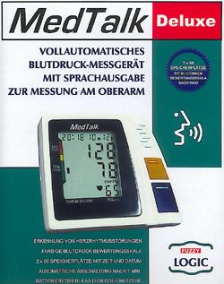 Sprechendes Blutdruckmessgerät für den Oberarm, vollautomatisch, Blindenartikel