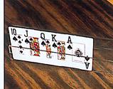 Spielkartenhalter aus durchsichtigem Kunststoff