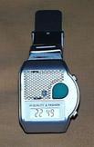 Sprechende Armbanduhr Uhr Blindenuhr silberfarben