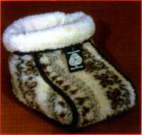 Fußsack aus reiner Schurwolle für wohlig warme Füße, folklore