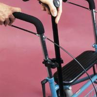 Stockhalter für Rollatoren oder Rollstühle