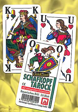 Schafkopf / Tarock Spielkarten mit großen Eckzeichen