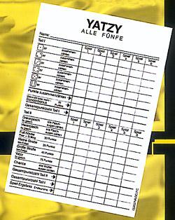 Yatzy Spielblock 5 Stück á 40 Blatt