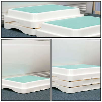 3er Set, Badewannenstufe, Einstiegshilfe für die Badewanne