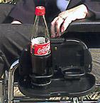 Rollstuhl Getränkehalter für zwei Getränke