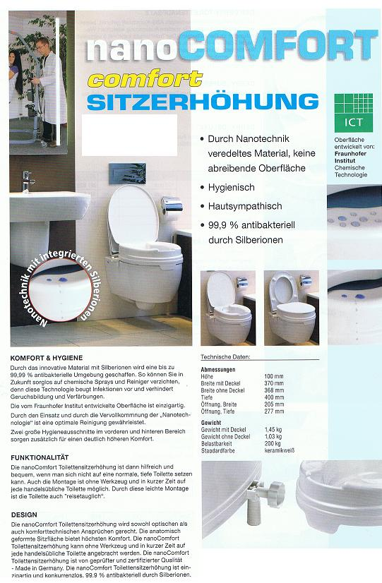 Nano Comfort Toilettensitzerhöhung
